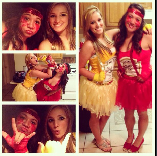 halloween costume best friend costume ketchup and mustard creative costume woman costume - Best Friends Halloween Ideas