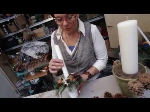 Lav et julelys/juledekoration med Elisabeth Bønlykke - YouTube