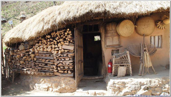 나의 문화유산 답사기 :: 한국민속촌 한옥, 중부지방 산촌민가 (초가삼간)
