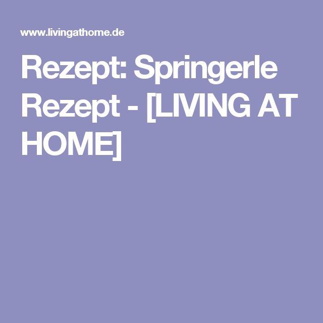Rezept: Springerle Rezept - [LIVING AT HOME]