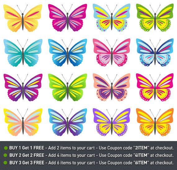 Butterfly Clip Art Digital Butterflies Clipart by KlampDesign