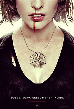 Milla Jovovich, Resident Evil. I want to name a child Alice based on this movie!