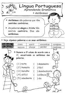 ATIVIDADES DE PORTUGUÊS PARA 3° ANO GRAMÁTICA INFANTIL Mais