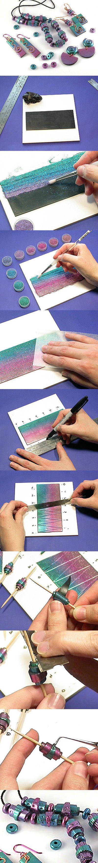 .Principiante del polimero & Glitter Bead Progetto