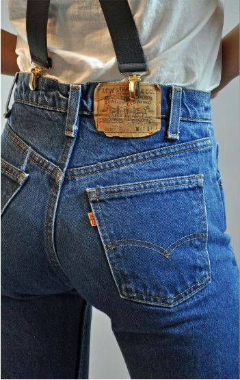 80s vintage high waisted LEVIs 215 denim vintage blue…