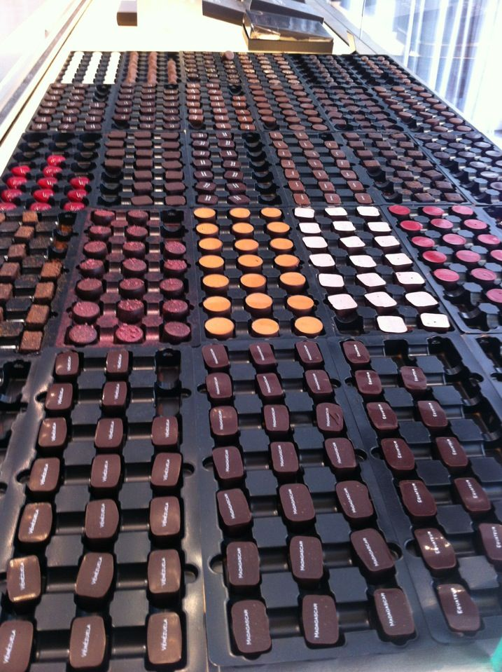 Pierre Marcolini, chocolate shop in Paris.                                                                                                                                                                                 More