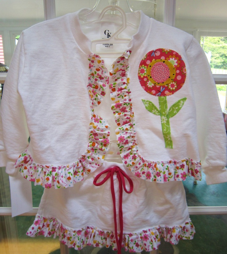 White Cotton Girls Sweatshirt JACKET & SKIRT by ...