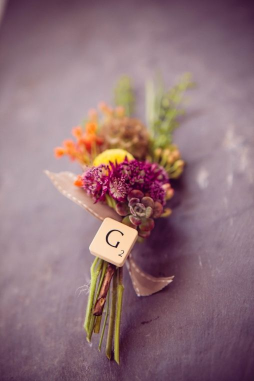 Wedding Flowers Devon Buttonholes  I love this for the groom's 'boot'