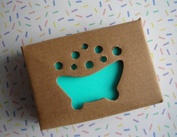 10 Kraft Soap Box with Bubble Bath cutout by WrapupthePartyShop, $6.50