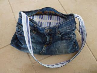 Zelfgemaakt van mij - voor jou: Tas van spijkerbroek