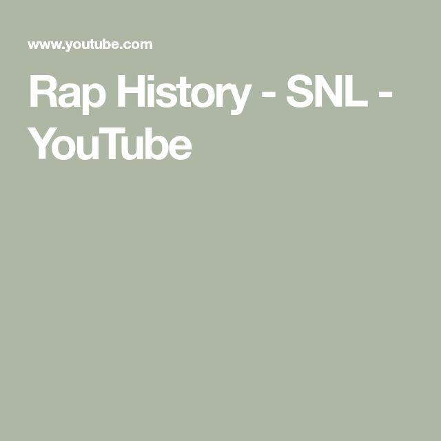Rap History - SNL - YouTube