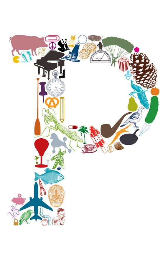 P is for... 11 x 17 Letter P Poster by eakdesign on Etsy, $16.50