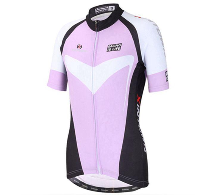 XINTOWN Bike Jersey 2017 PRO Team Women MTB Bicycle Motocross Quick Dry Shirt Cycling Jerseys Clothing Gel Pad Purple