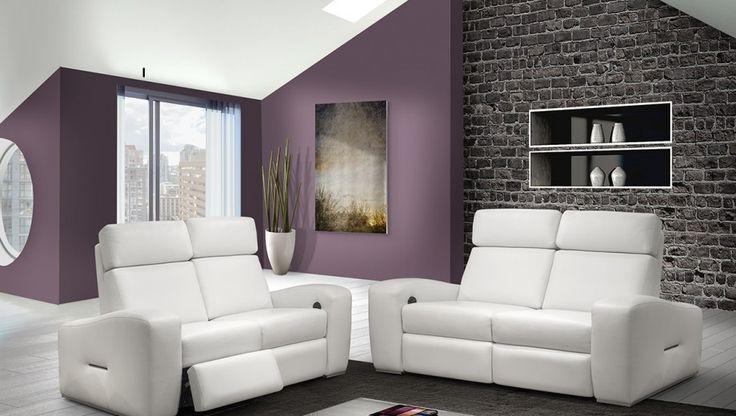 Fabriqué au Canada, le canapé inclinable en cuir Concord de Bugatti Design est offert dans un vaste choix de cuirs et de tissus. Aussi offerts: causeuse et fauteuil inclinables.