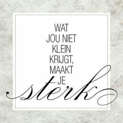Je bent sterker dan je denkt !!!