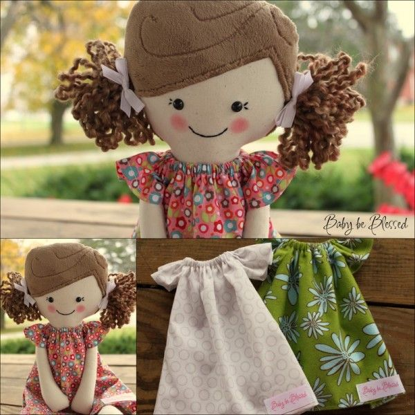 My girls love dolls...thinking of making a dress for them to match their dolls:)