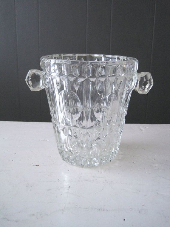 Vintage Ice Bucket or Wine Cooler in Pressed by DoceVikaVintage