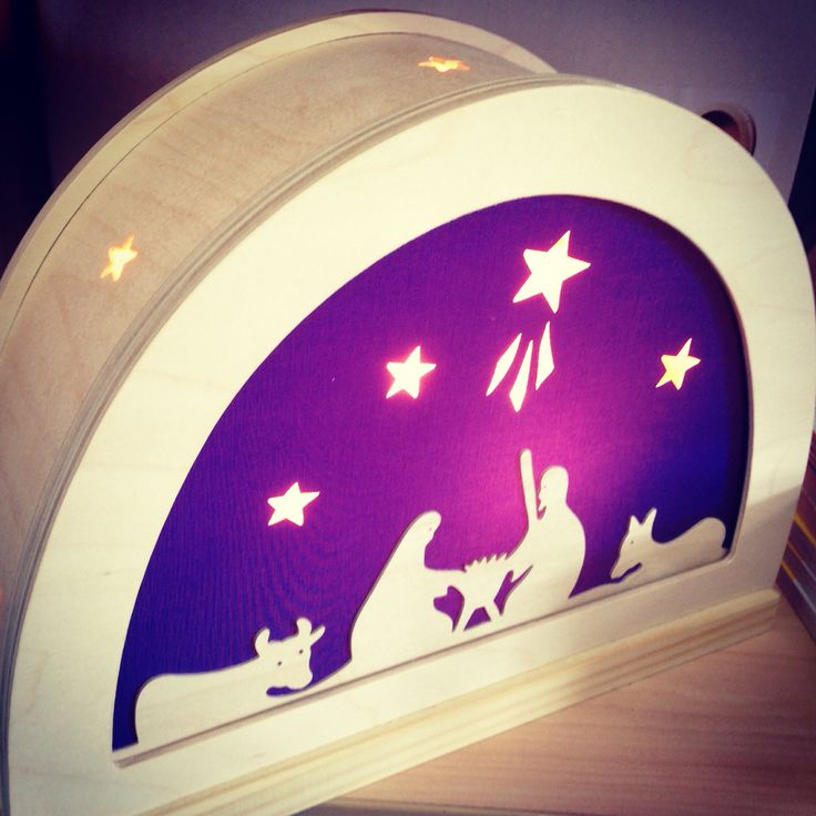 Nativity De Noest Silhouette lamp. Lovely for Christmas
