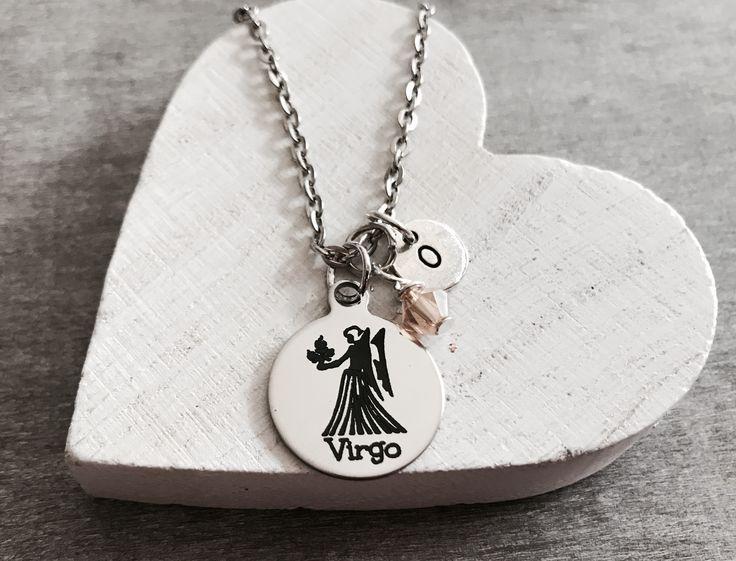ASTRONOMY, Virgo, Zodiac, Virgo Necklace, Virgo Gift, Virgo Jewelry, Virgo Charm, Zodiac Necklace, Silver Necklace, Silver Jewelry by SAjolie, $22.75 USD