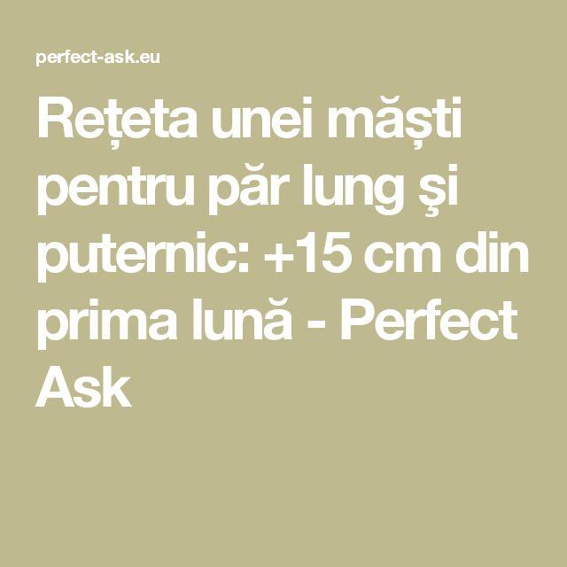 Rețeta unei măști pentru păr lung şi puternic: +15 cm din prima lună - Perfect Ask