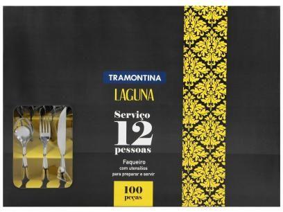 Faqueiro Tramontina Laguna Inox - 100 Peças com as melhores condições você encontra no Magazine Jdamasio. Confira!