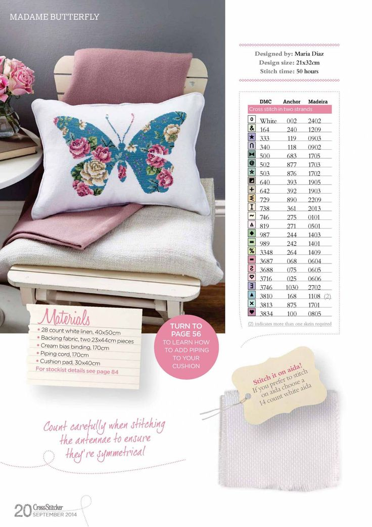 butterfly pillow cross stitch