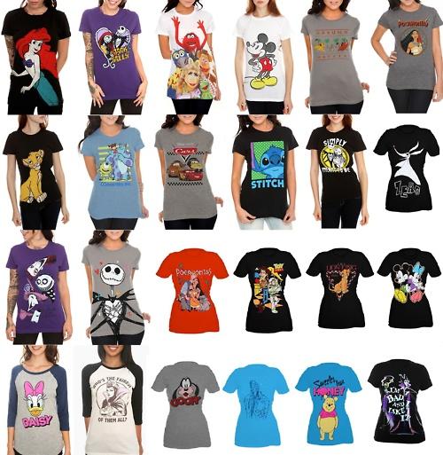 Hot Topic Disney T-shirts