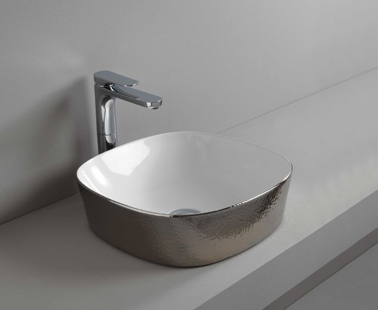 GHOST countertop washbasin #TheArtceram #platinum #decor #bathroom #colorsountertop washbasin