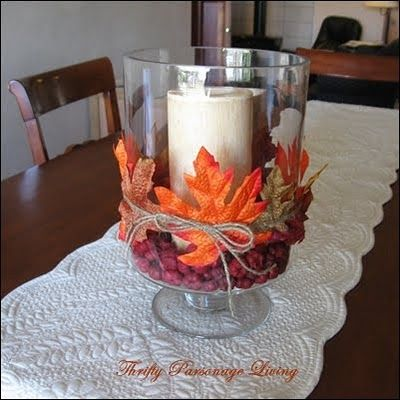 Google Image Result for http://perpetuallydaydreaming.files.wordpress.com/2012/08/fall-decor-1.jpeg: Fall Decoration, Craft, Idea, Fall Halloween, Fall Candle, Fall Thanksgiving, Fall Decorating