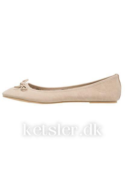 Damer Ballerinaer - Anna Field Ballerinasko - beige - 542344
