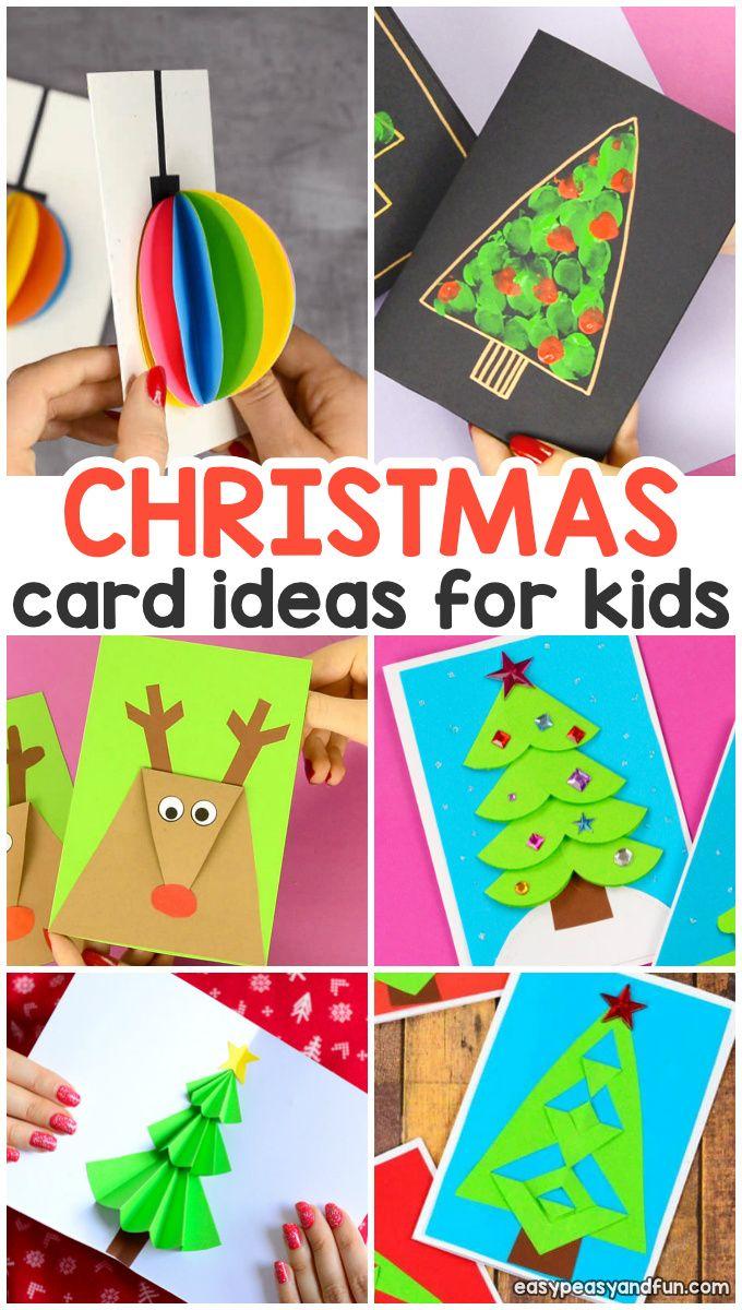 Diy Homemade Christmas Card Ideas Diy Christmas Cards Christmas Cards Handmade Kids Christmas Card Crafts