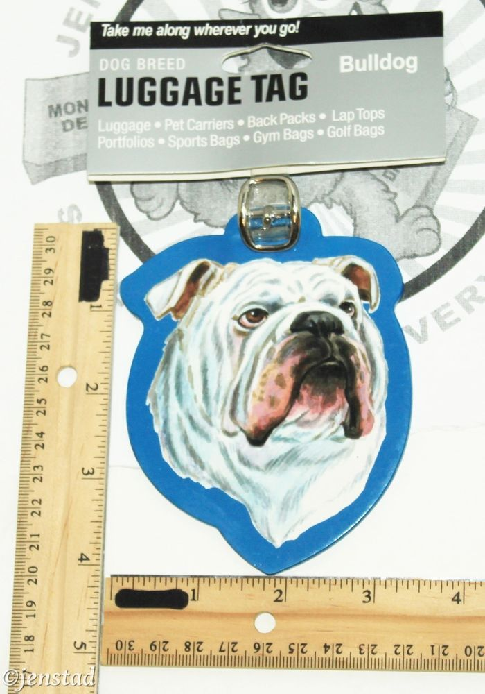 BULLDOG PET CO DOG BREED ID TAG FOR LUGGAGE CARRIER GYM BAG ETC LITTLE GIFTS NEW #WestportCollectionbyLittleGiftsInc