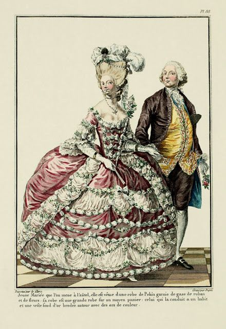 for French rococo fashion