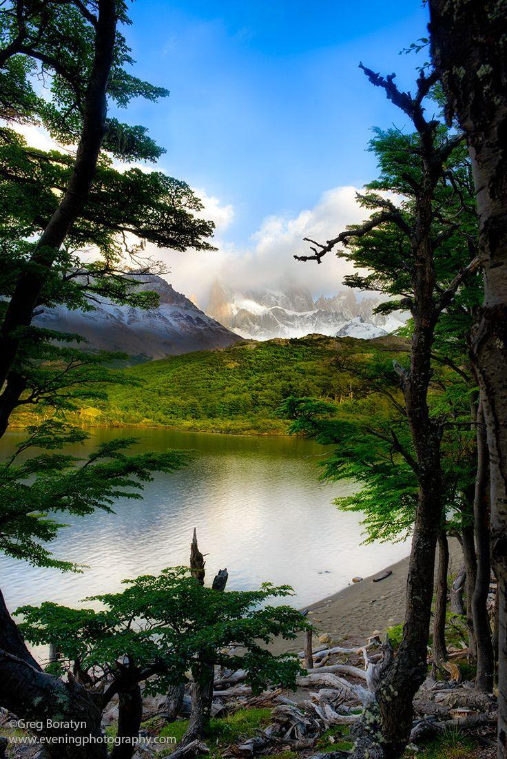 Fitzroy Montaña, Patagonia, en la frontera entre Argentina y Chile
