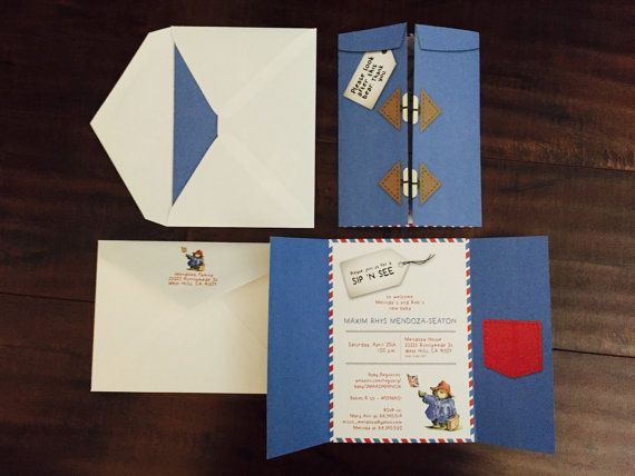 Paddington Bear Raincoat Party Invitation Set by MAsheeDelights