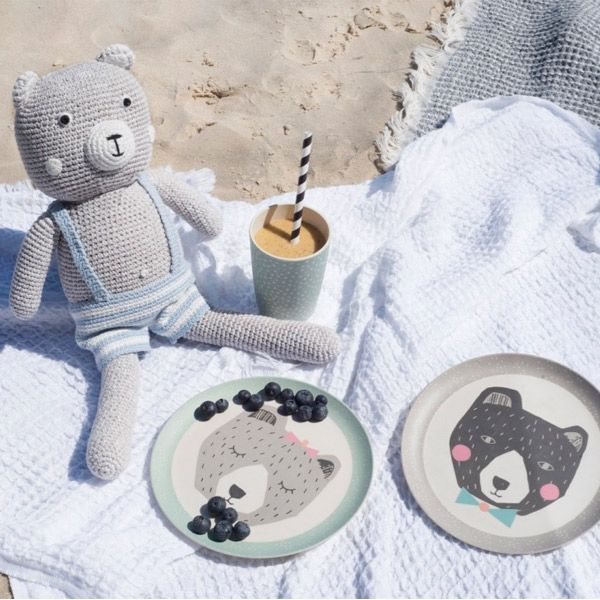 A Teddy Bear's Picnic, whether it's at the beach, in your garden, or even under the dining room table, is perfect for pre-school kids as it encourages imaginative play, and allows them to share their emotions, and conduct elaborate conversations. #lovemae #bamboo #dinnerware #childsplay