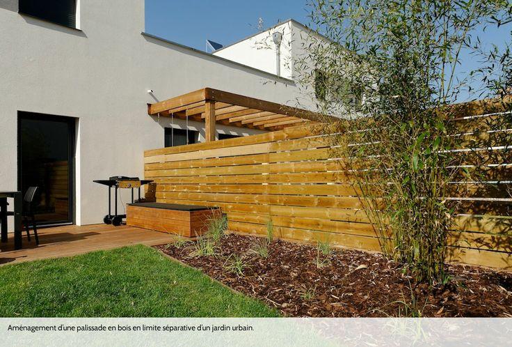 Palissade bois en limite séparative - Concepteur d'extérieurs Studio R
