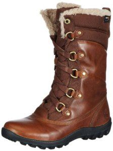 Timberland Ek Mount Hope Leather and Fabric Waterproof, Bottes de neige femme