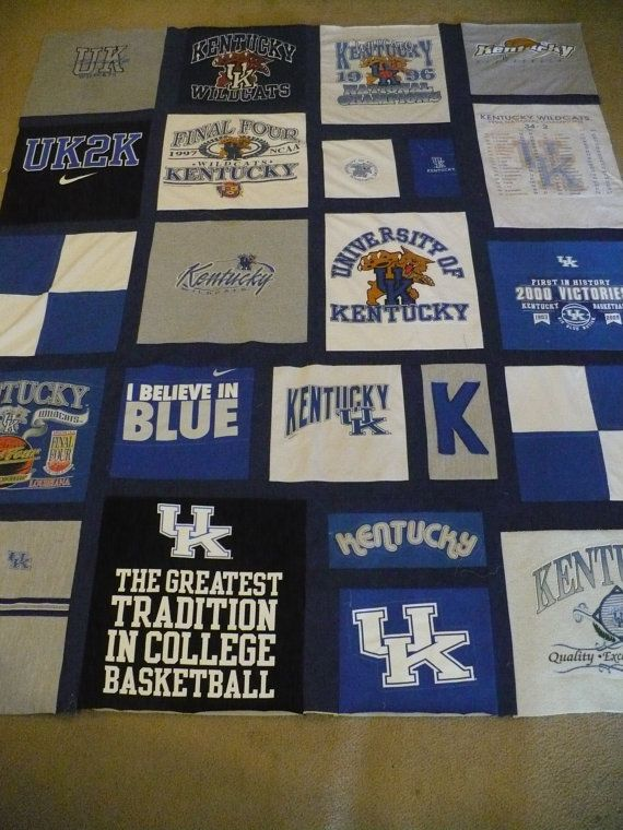Wedding UK University of Kentucky TShirt Quilt by bcmead on Etsy