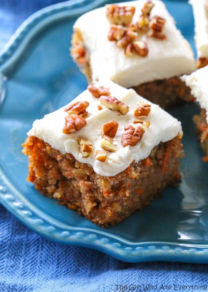 Moist Carrot Cake - super moist carrot cake that full of flavor. the-girl-who-ate-everything.com