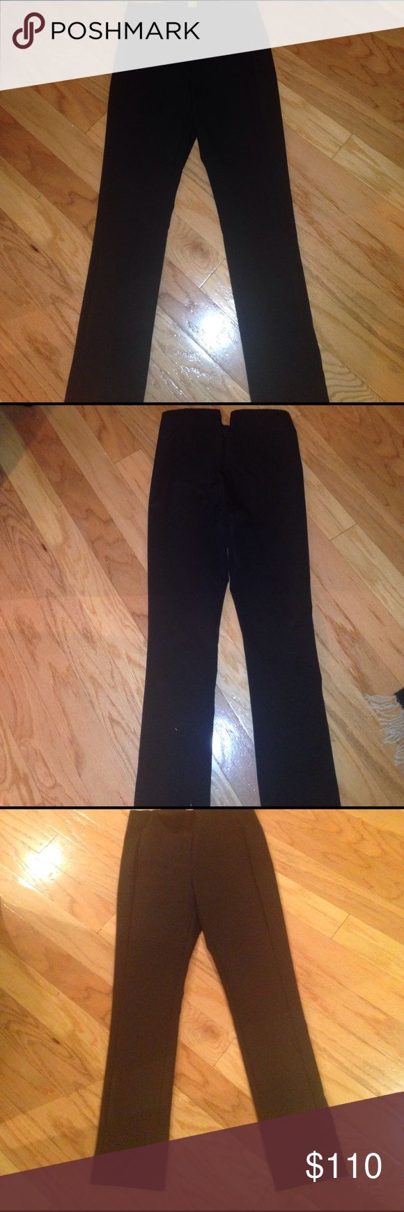 """Theory """"navalene jetty"""" stretch skinny pants. Purchase this season (winter 2017) from Trunk Club in a moment where I forgot what I look best in. Never worn but please note *tags were removed for hemming*. The pants are hemmed to approximately 25"""" inseam. (On the rack they are advertised as 28.5"""" inseam).  The pants are sold as """"shape defining stretch"""". No pockets. Back zipper. Theory Pants Skinny"""