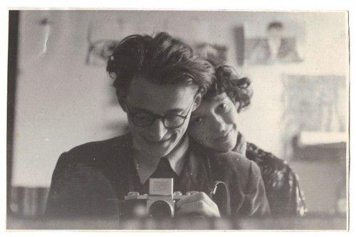 Andrzej Wróblewski - Autoportret z żoną,maj 1954