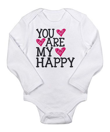 Look what I found on #zulily! White 'You Are My Happy' Bodysuit - Infant #zulilyfinds