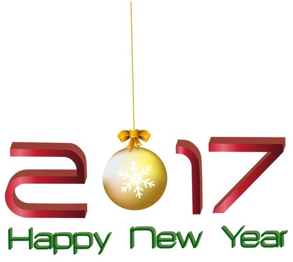 2017 Happy New Year Transparent PNG Clip Art Image