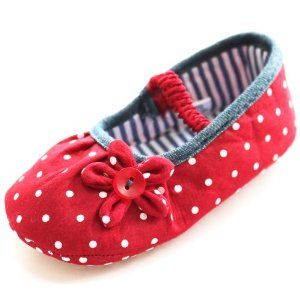 Jual Sepatu Boots Bayi - Lembut Sole Balita Bayi Perempuan Reds Gaun Putri Polka Dot Shoes Flower hdxx   Pusat Sepatu Bayi Terbesar dan Terlengkap Se indonesia