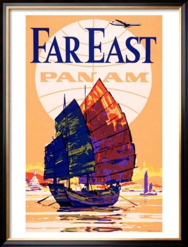 Pan Am Airlines Far East- what a beautiful painting slapped onto an ad