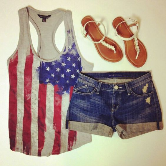Top 15 Patriotic Spring Short Outfit Designs – Famous July 4th Holiday Teen Fashion - Homemade Ideas (7)