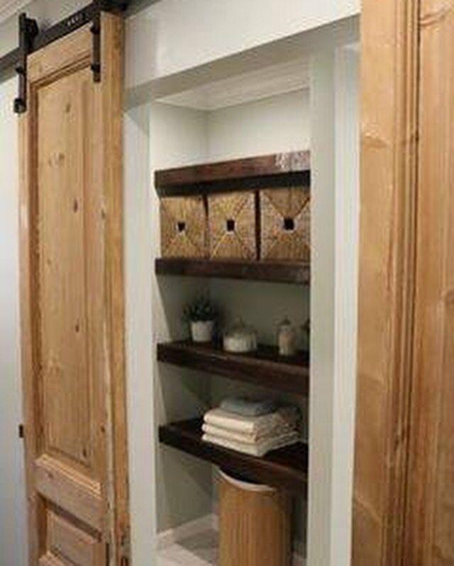 Our antique french doors hung barn door style great for French door barn door