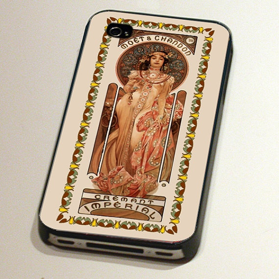 Case for an iPhone4 or 4S - Moet and Chandon by Alphonse Mucha