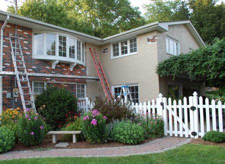 Home Dzine Should I Paint Exterior Face Brick Plascon Micatex And Plascon Damp Seal Garden